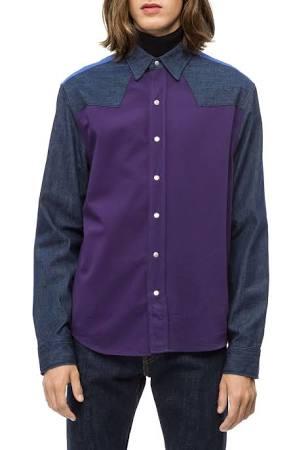 De Colores S Western Naranja Camisa Calvin Klein Para Jeans Hombres ICqwn7x1