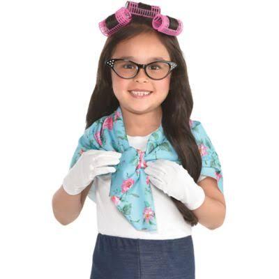 Disfraces Of Abuela 100th Amscan Kit Para Girls Accesorios Day De School Halloween fvzqtvx