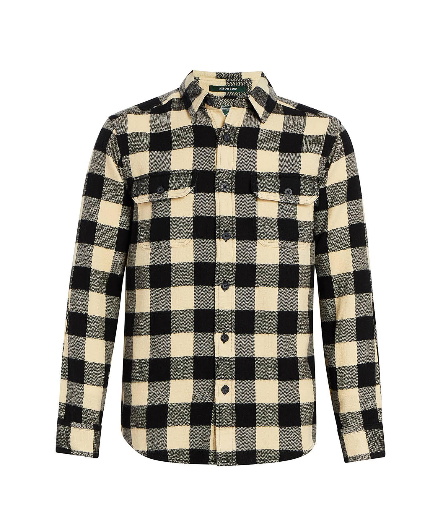 Herren Schwarz Bend Weiß Woolrich Modernes Flanellhemd Oxbow M qg6wIwX