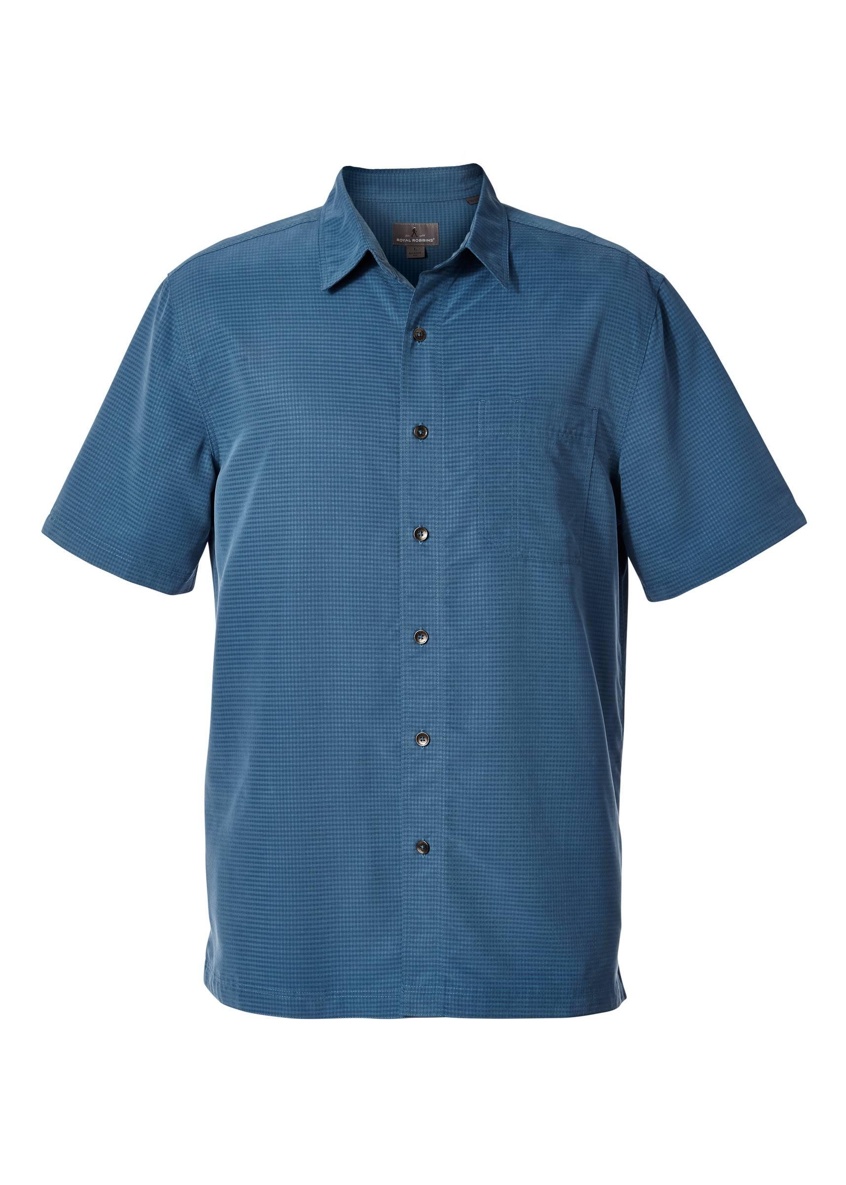 Royal Manga Para Stone Hombre De Pucker Camisa 71200 Dry Stone t Robbins Tall blue S s Blue Desert Corta wgtxqH