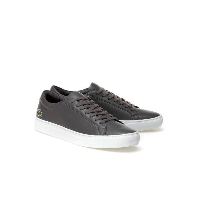 Lacoste Leather L 12 12 Sneakers Men's Grey 484rqwg