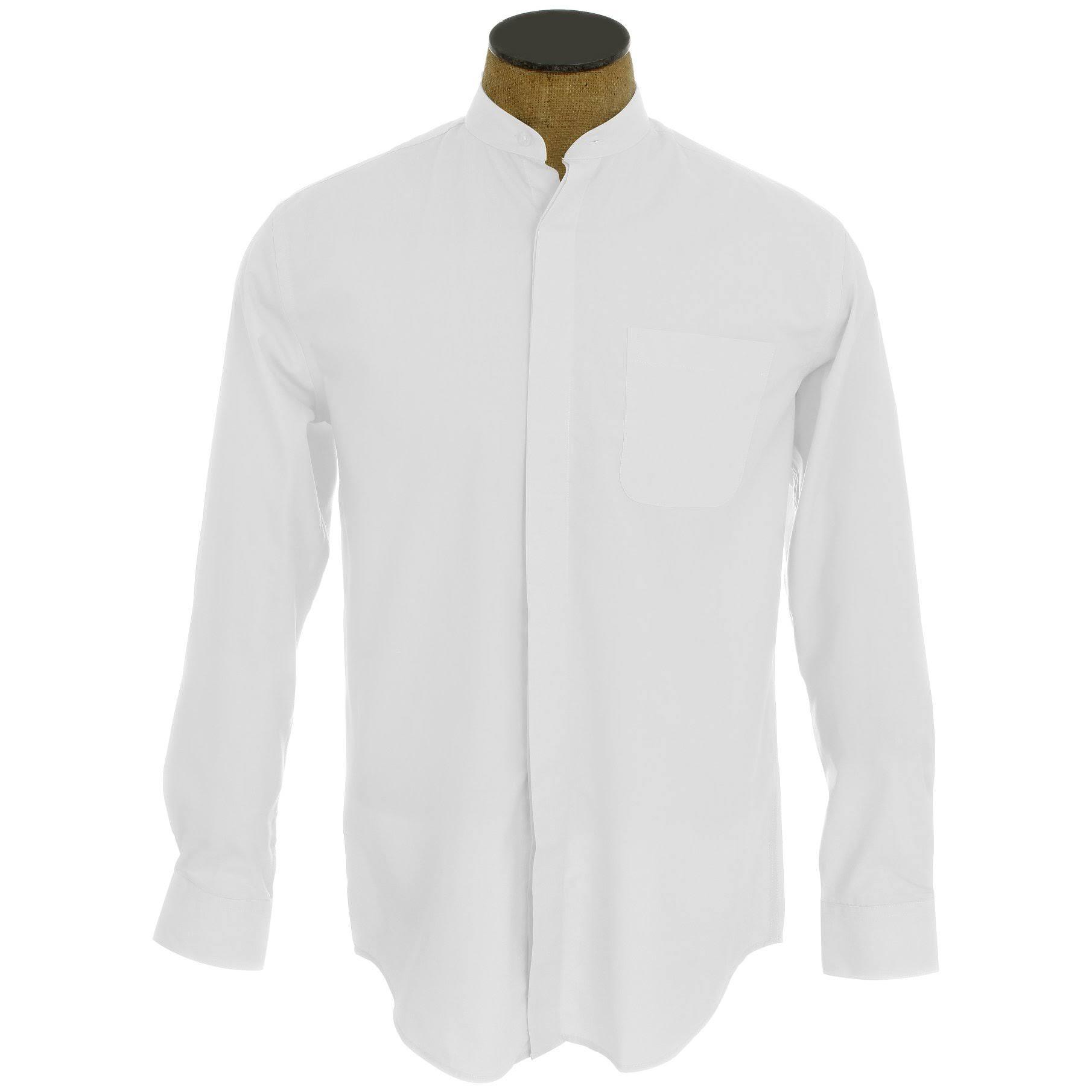 Sin 15 5 De Mangas Blanco Camisa Tamaño Con Vestir Cuello Hombre Blanco Outlet Para Sunrise RqpSxAT