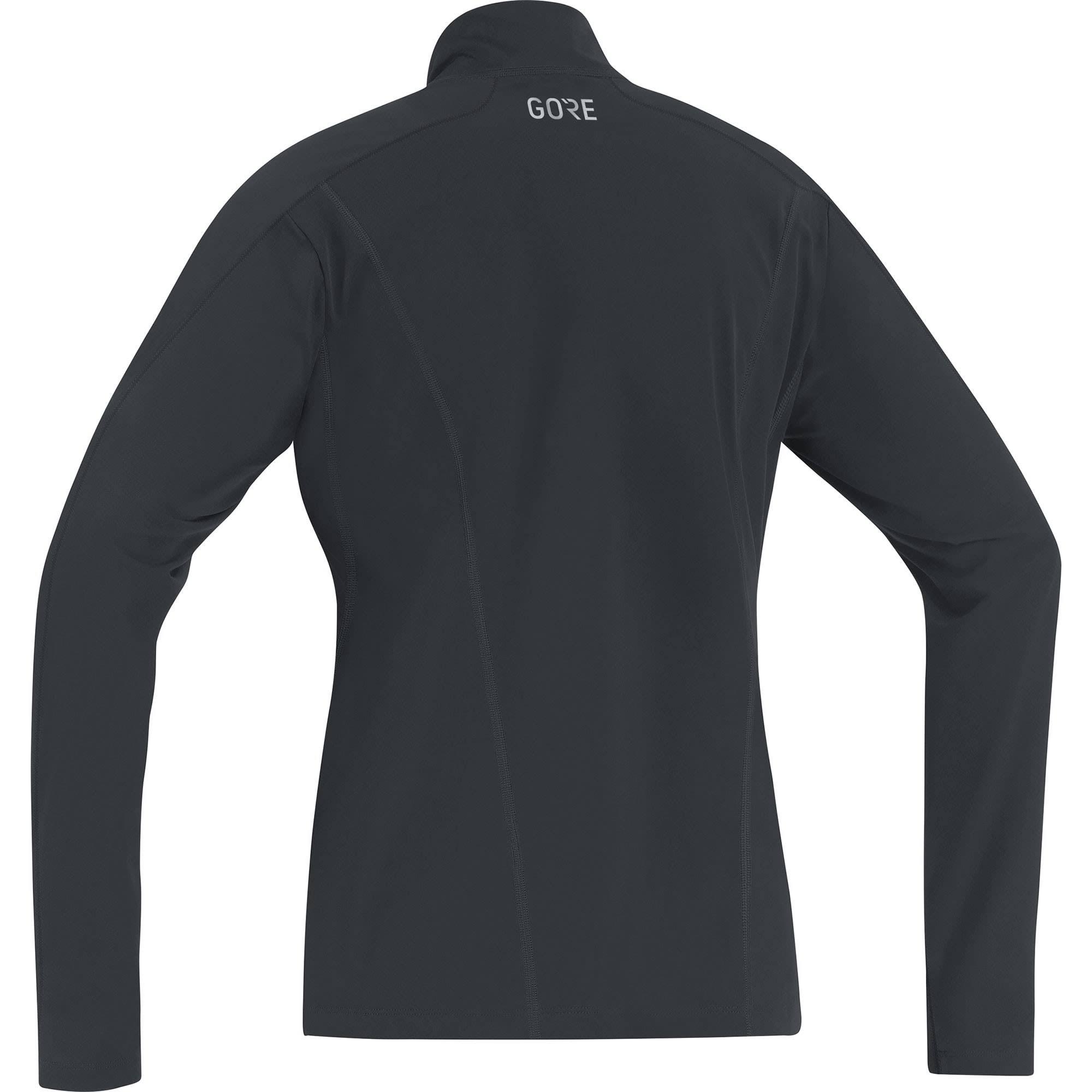 Gore Long Zip Thermo t Größe shirt Damen Langarm Shirt R3 34 Schwarz Sleeve Schwarz Farbe I4rwH4xq