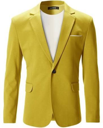 Mittel bj102 Casual Mens Gelb Premium Blazerjacke Flatseven x0qRBXwvFW