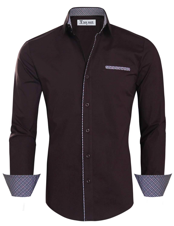 Vestir Camisa Contraste Premium Ware Interior Tam Informal De Hombre Para wYxrvYHq0