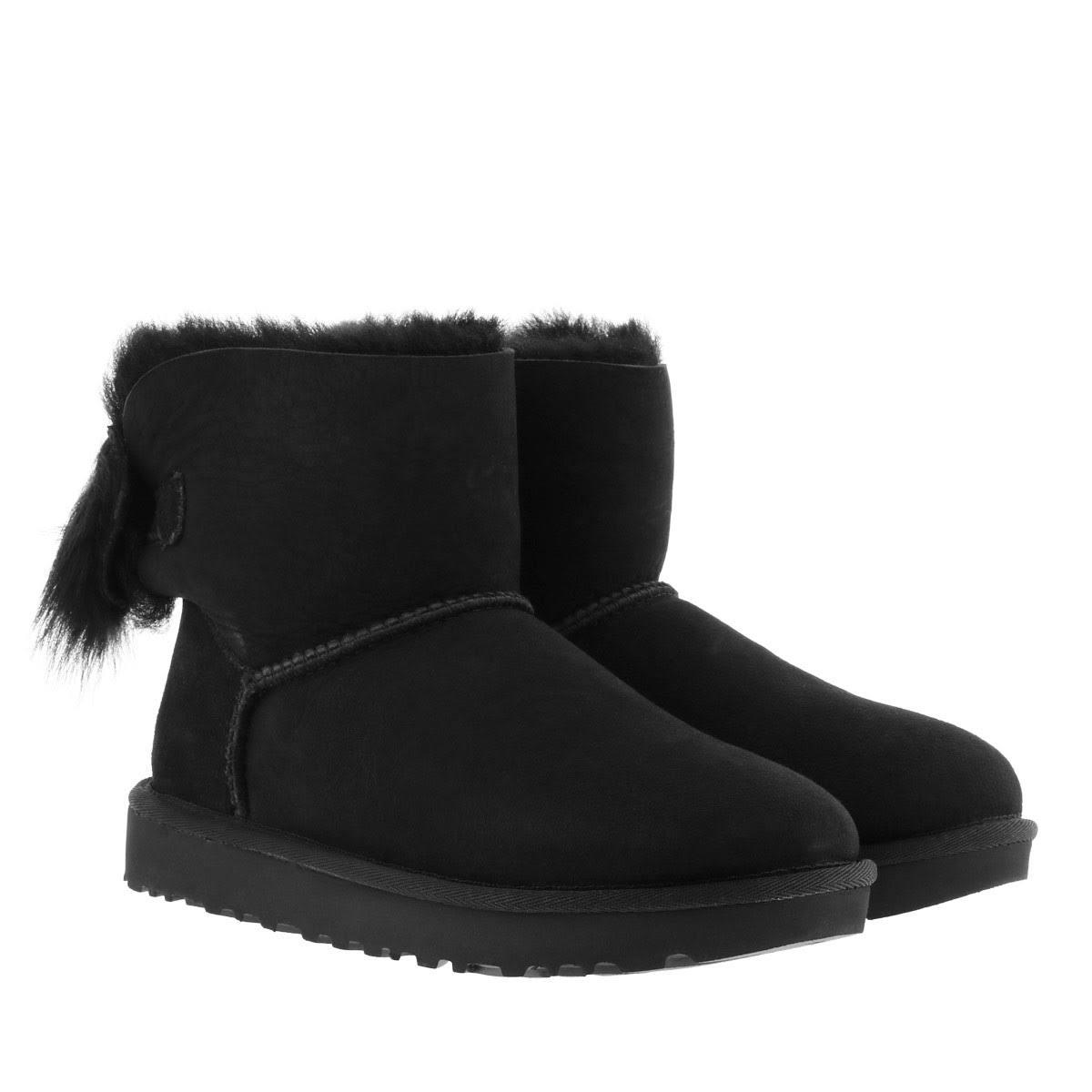 Bow Mini Boot damesschoenen 3 Zwart Fluff Ugg 34L5RjA