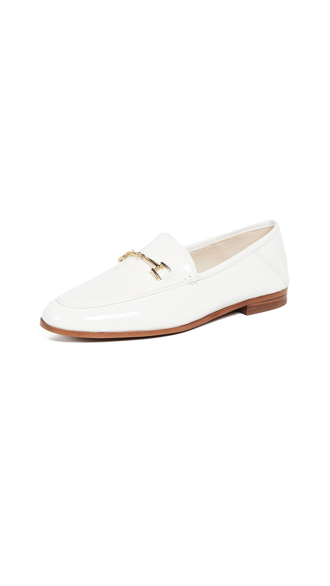 40½ Edelman 10 Bright 5 Loafers White Loraine Sam awqT40x