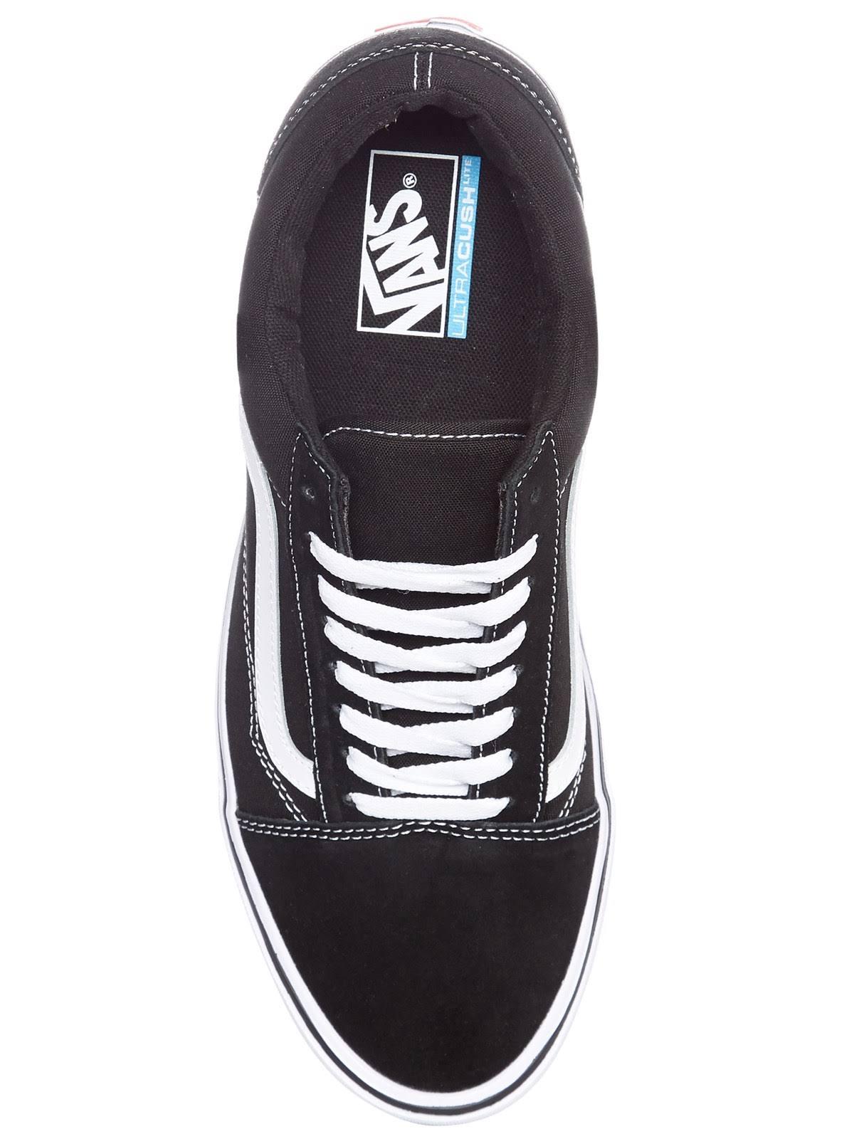 Vans Skate Lite Shoes white canvas Old Black Suede Skool qq40Bpa