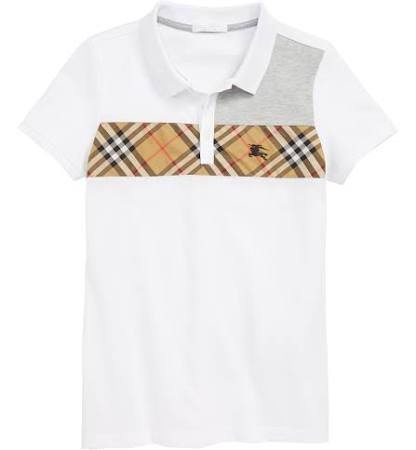 Kid Little Kid 'jeff Boys Shirt Burberry White Big Polo 1XPnq