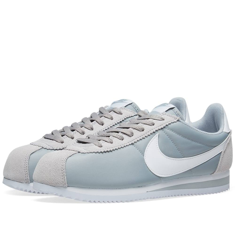 Classic Nike 7 Wolf Grey amp; 5 Size White Cortez Nylon grey Shoe BOxB6r