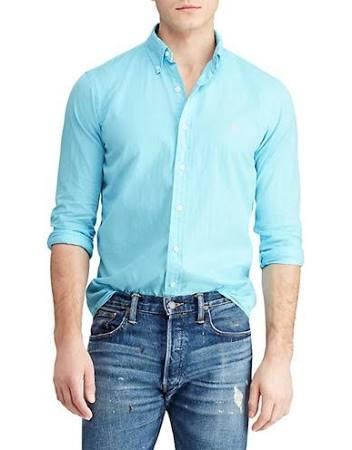 Mit Lauren Polo Large Passform Größe Klassischer T shirt Ralph Herren Blau q5rO4HXr