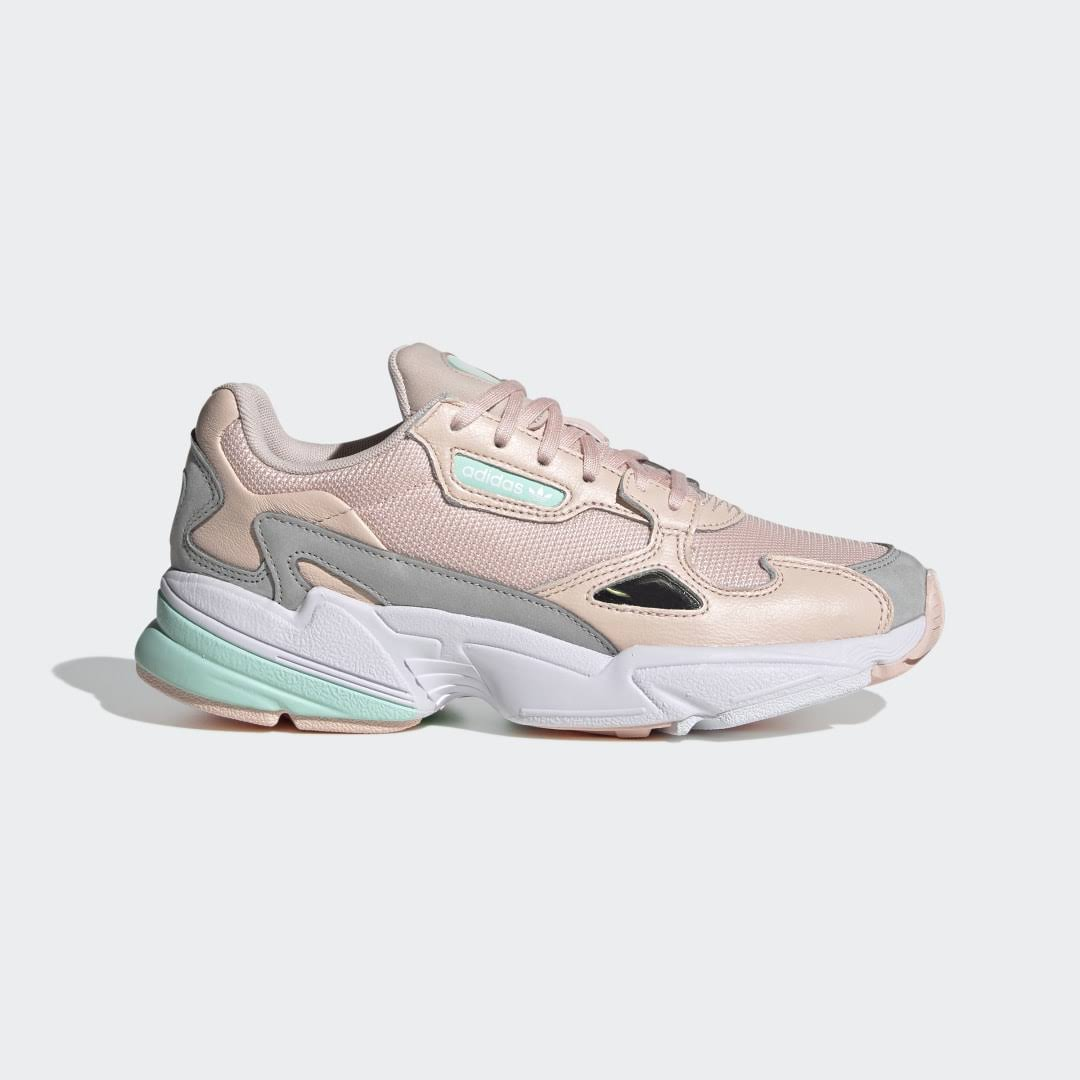 Adidas Falcon Shoes - Women - Icey Pink / Clear Mint / Grey Two - 3.5