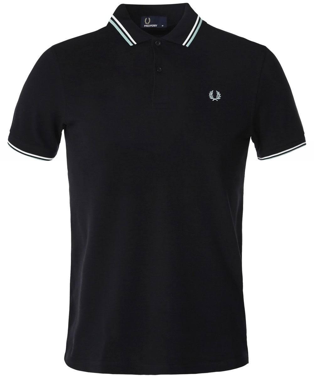 shirt Punta NeroBiancaneve Menta T Perry Di E Polo Con Nero Doppia Fred L3AR54j