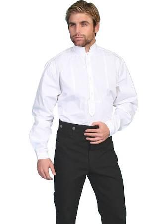 Algodón Blanco Para Old Hombre West Scully Western Camisa S 579280 L Jersey Formal qx4wZTOvF