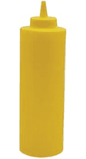 Winco 24 Oz. Yellow Squeeze Bottle (PSB24Y)