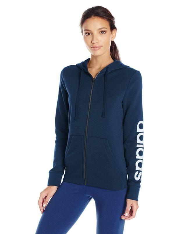 Navy kapuzenjacke Mit 5 Reißverschluss Essentials Women Farben Fleece Adidas Durchgehendem Weiß Collegiate xqn7w4