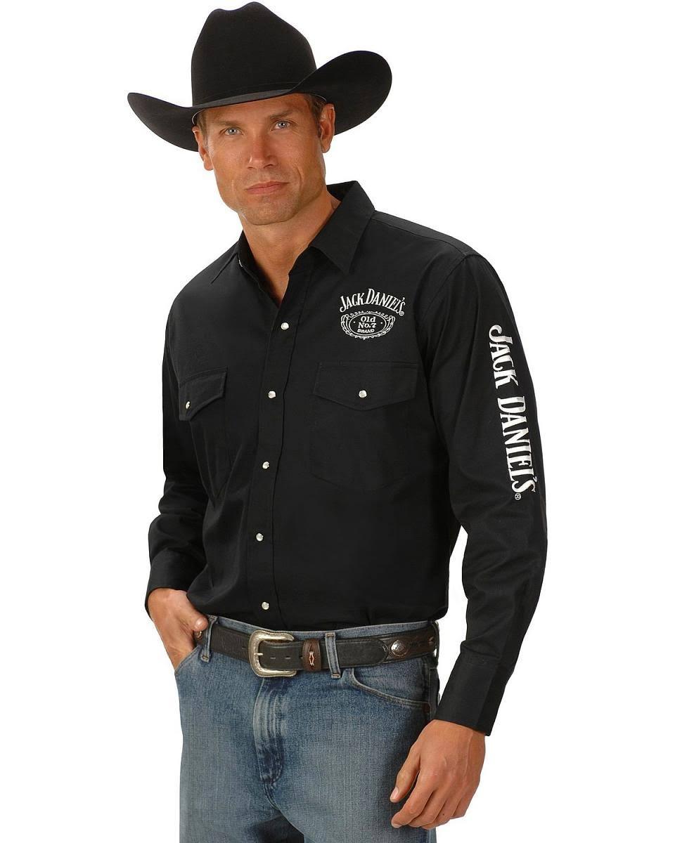 Shirt Daniels Jack Rodeo Herren Cowboy Logo Daniel Für Medium Schwarz fZAwqavn