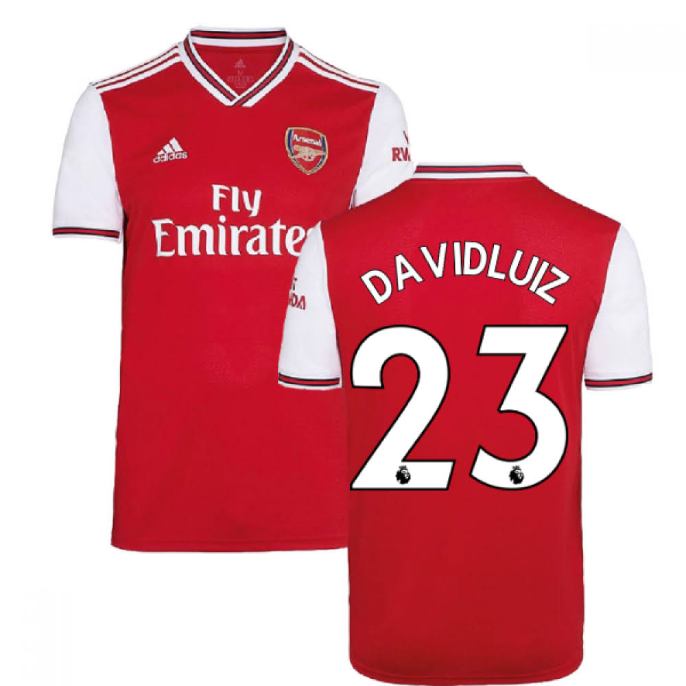 2019-2020 Arsenal Adidas Home Football Shirt (David Luiz 23)