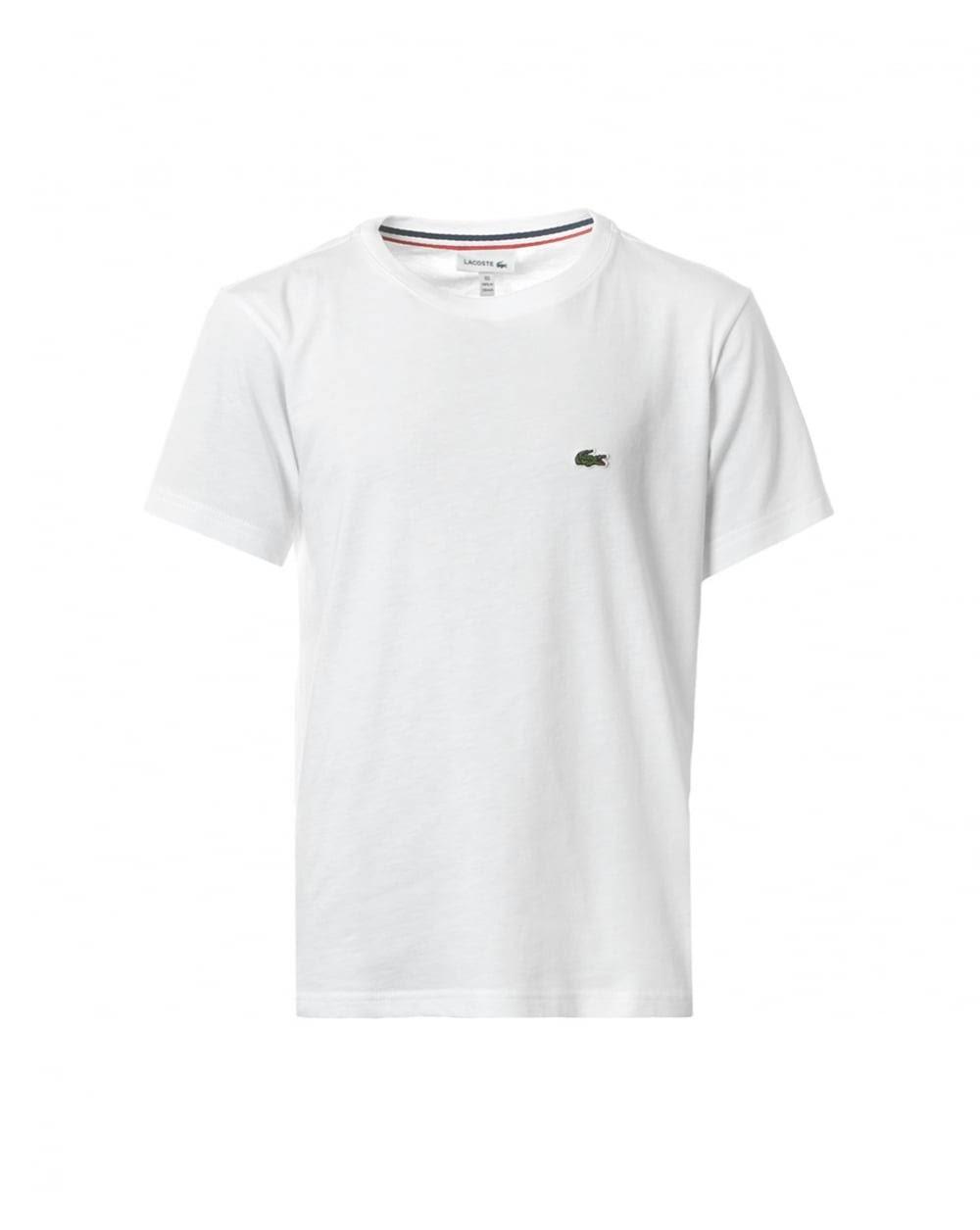 De Blanca Camiseta Lacoste Boys Algodón qtpw7xW4F
