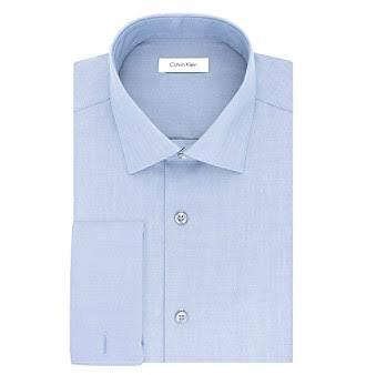 Espiga 33 Estilo Recto Hombres Camisa Steel De 32 Para Hombre Espiga Sin Klein Corte Azul Calvin Vestir 14 qP4Hn