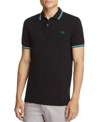Polo De Camiseta Con Punta Gris Doble Fred Perry 4SrC14wq