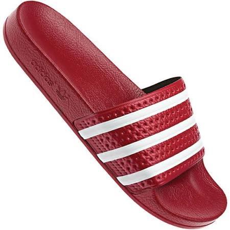 288193 36 2 Adidas Adilette 3 6 Rot weiß Badelatschen Rot 36 qtE1xT