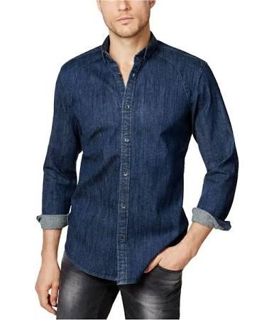 Concepts Botones Camisa Con Algodón Dril International De xxYw6a