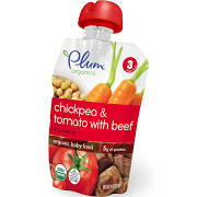Plum Organics Baby Food, Chickpea & Tomato with Beef + Cumin - 4 oz pouch
