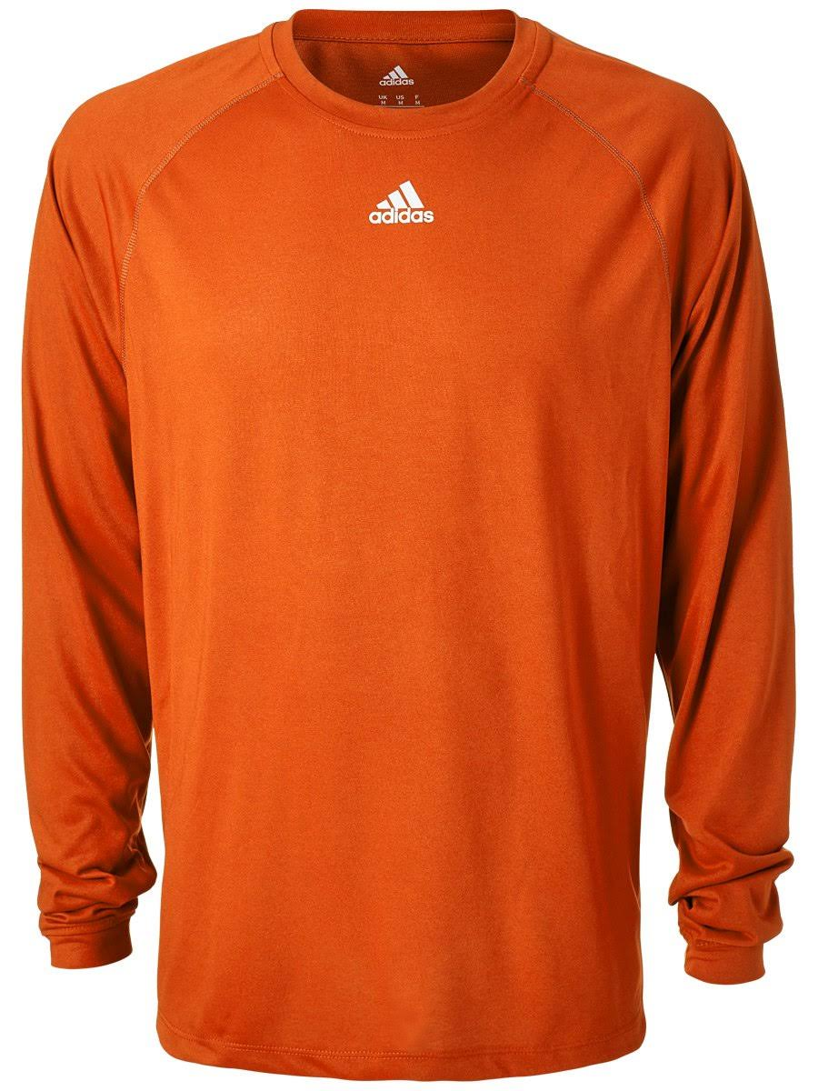 Collegiate Climalite Hombre Para Camiseta Manga De Performance Adidas Larga Orange wXXCqz5Pc