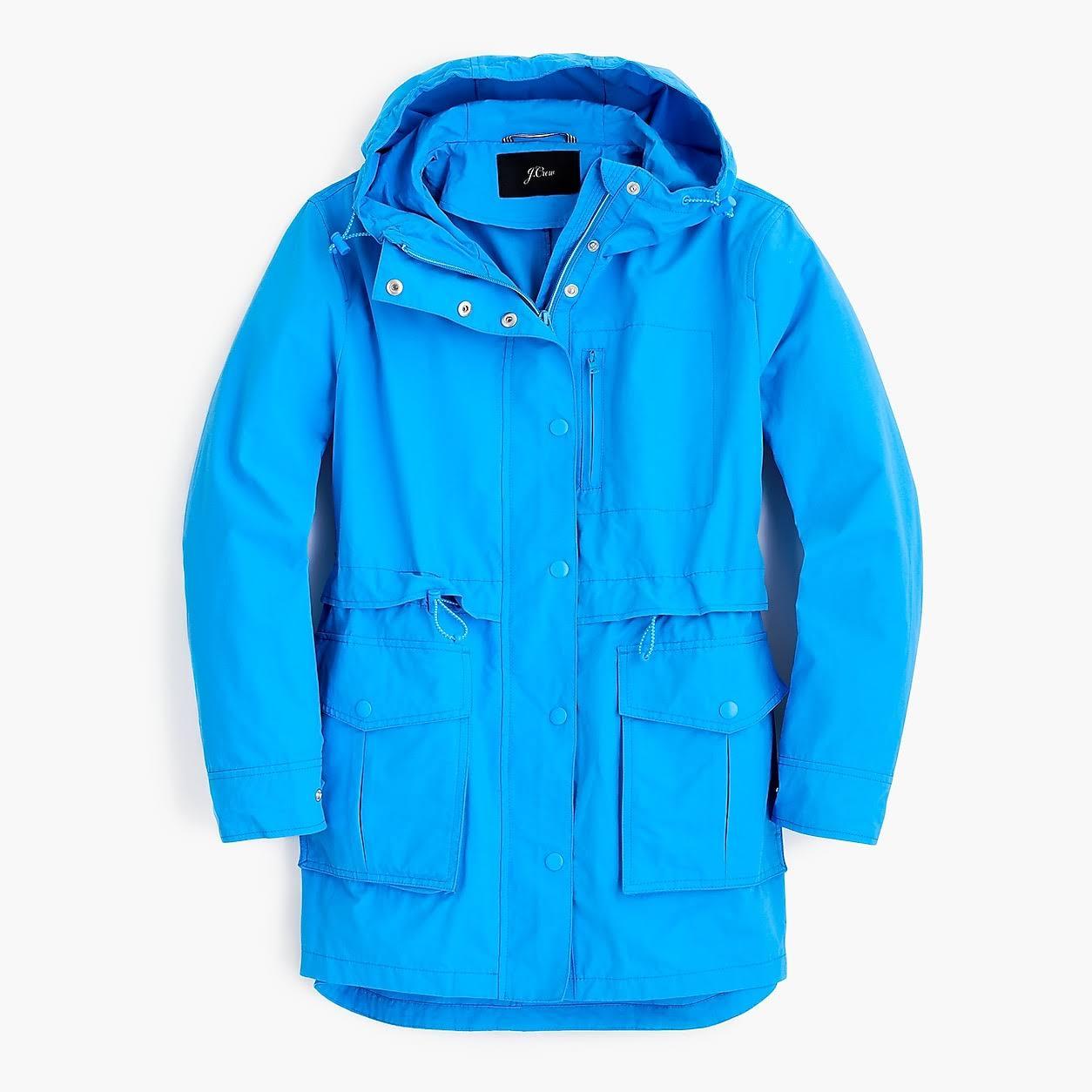 crew Xx Womens Rain Aquarell größe Sky large Jacket J Perfect dHqdw7