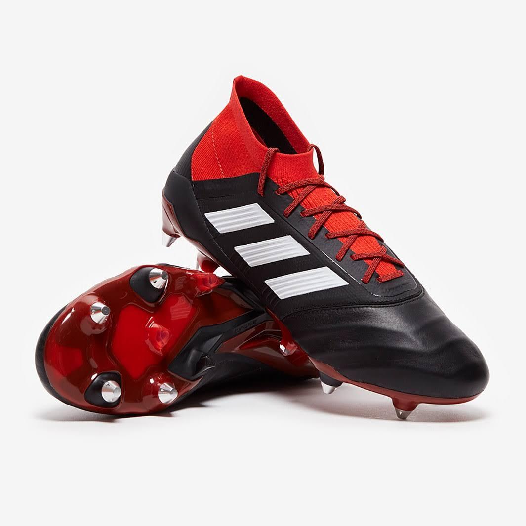 Adidas Predator 18.1 Leather SG Core Black White Red