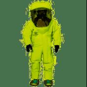 Dupont Tk555tly2x000100 Encapsulated Suit,2XL,Tychem TK G0086667, Adult Unisex, Green