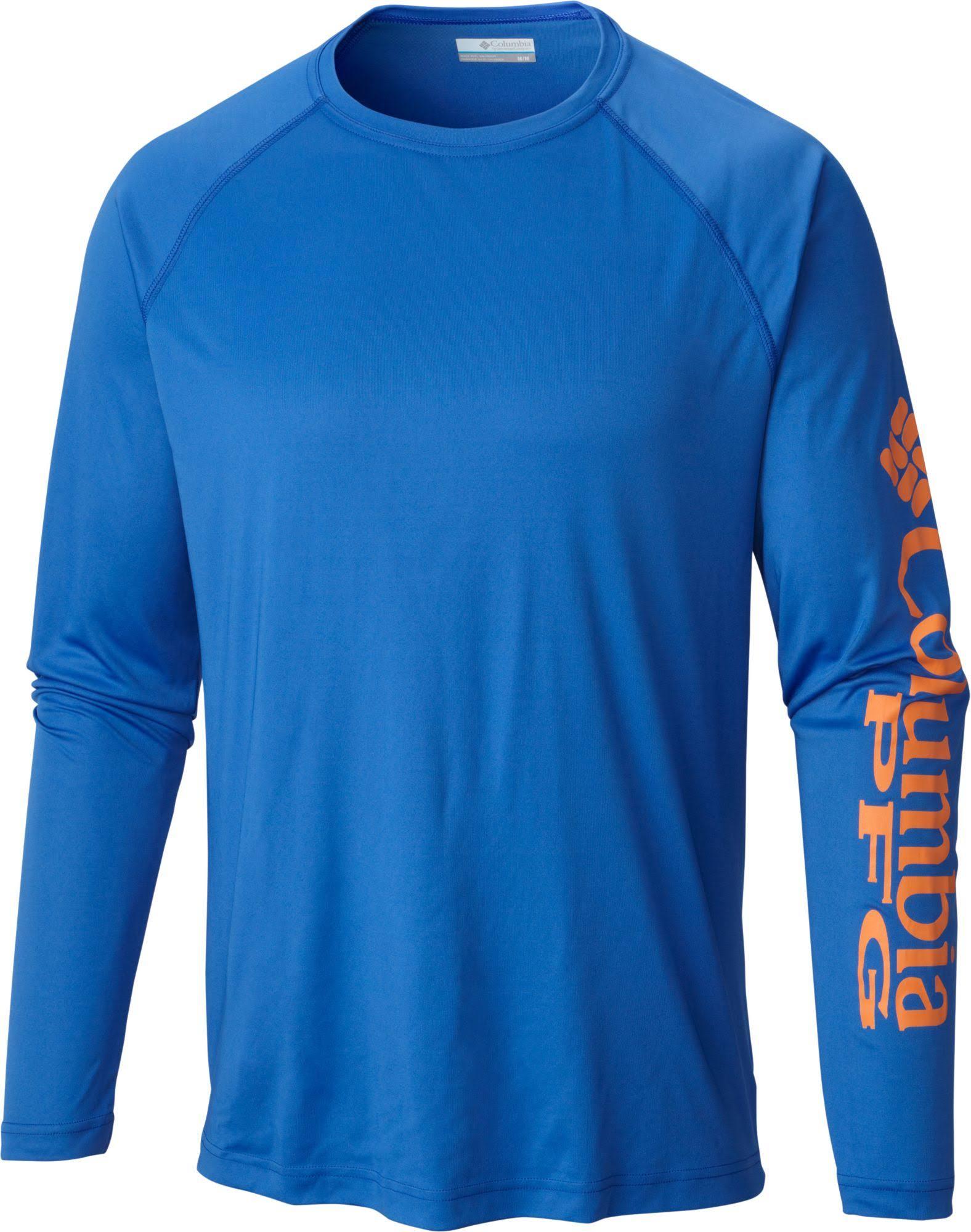 Columbia Manga Tackle 2xt Camisa Azul Grande Pfg Tamaño Alto Terminal Para Hombres Alto De Y Larga gq5wfX