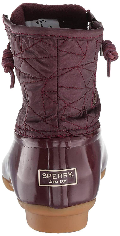 quiltboot Damessandalen dameszoutwater10 voor Sperry wijnroodrood Jc3TlF1K