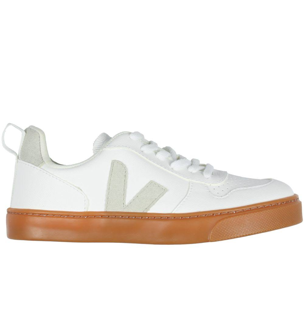 Veja Small V-10 Lace White Trainers