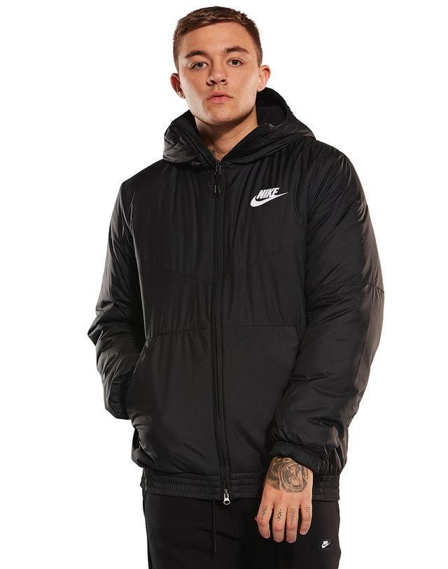 Con Hombre Fill Chaqueta Synthetic Nike Capucha Sportswear Negro dnxwwYfqH