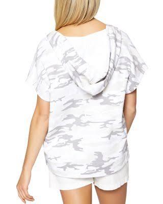 Blanc Camouflage Femme Bahia À Sanctuary Coton Capuche En Sweat qg8TS6a