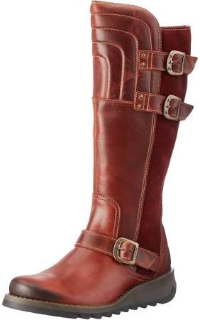 Sher730fly Brown 36 Fly 3 Boots wine brick Uk brick London Eu wine Women's Sng1xEqf