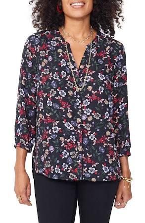 De Pintuck Blusa Tamaño Alpine Xl Mujer Para Black Nydj Meadow v5vSgr7