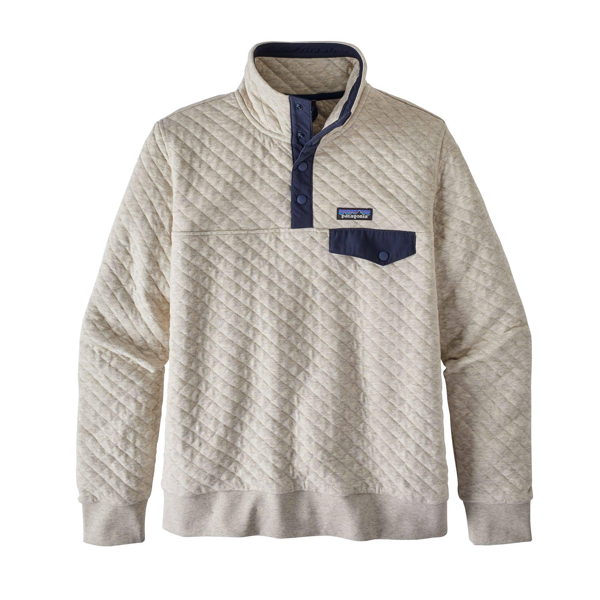 t Mujer Cotton Organic Patagonia Snap Pullover Para Blanco Quilt Birch xIPqzwZ