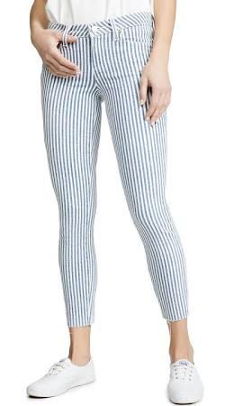 Jeans Ciel Bleu 24 Rayures Paige Pour Jean Skinny Ajusté Taille Femme Star À dHfOBqZ