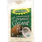 Let's Do Organic Coconut Flakes, Unsweetened - 7 oz bag