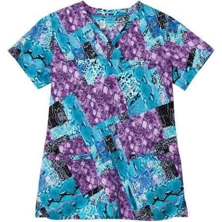 Biológico Mujer Estampado Tamaño Bio Camiseta Púrpura Prints De Con Xs HS5wIq