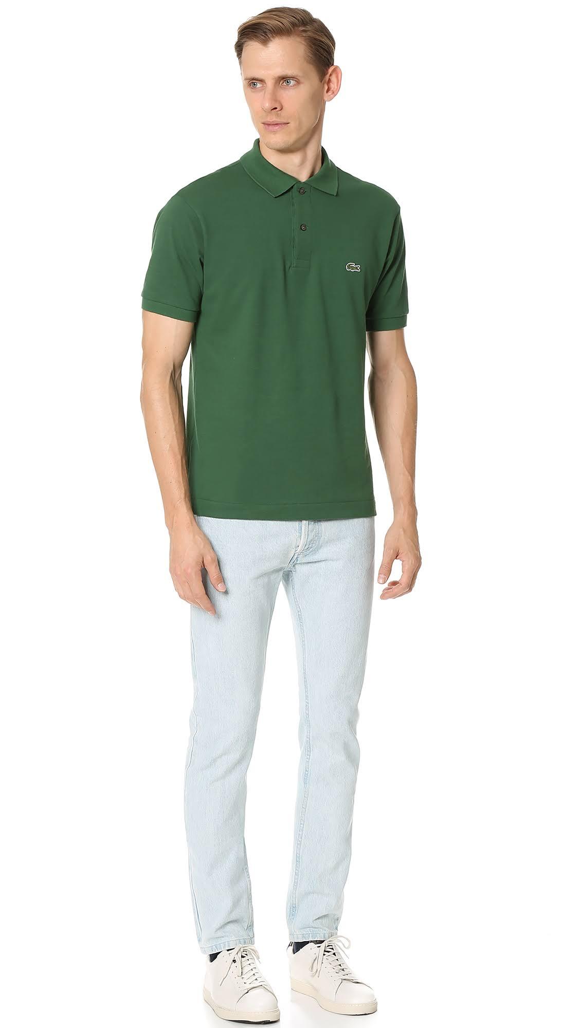 Lacoste Mens 12 Green L Polo Style L Shirt 132 Piqué ធម្មតា 12 rfxZp