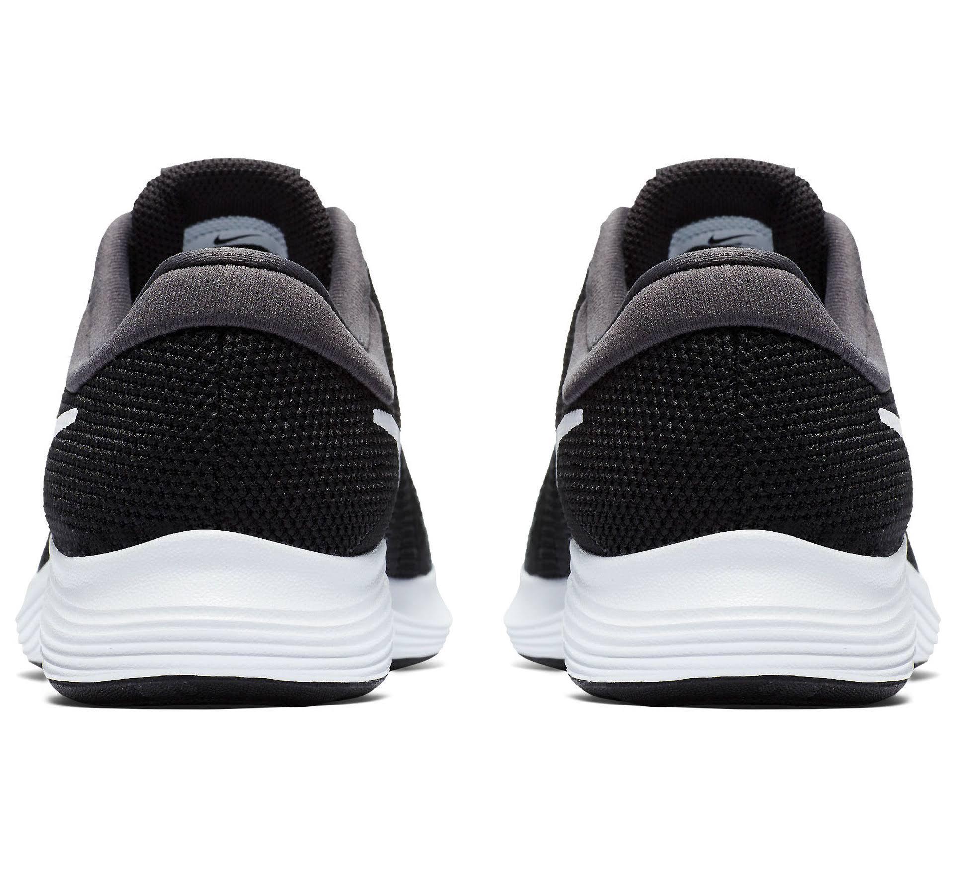 Größe Kinder Schwarz 4 Schwarz Weiß Laufschuhe anthrazit Farbe Nike Revolution weiß qwAOZA8x