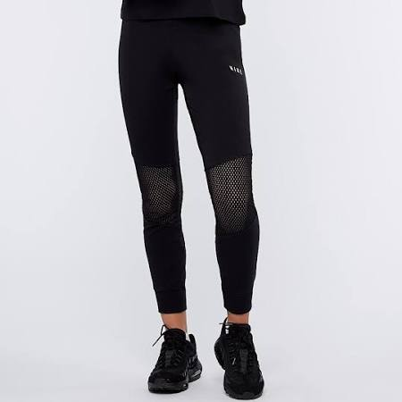 Nike Essential Legging Mesh Women Black Leggings Cotton, Polyester, Elastane