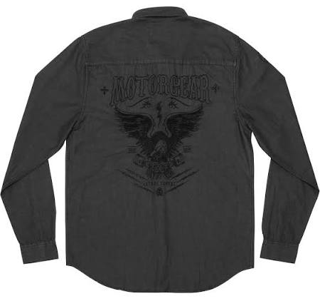 Camisa Motorgear Pistones Manga Lethal Larga Con Eagle Threat De RCWqU47