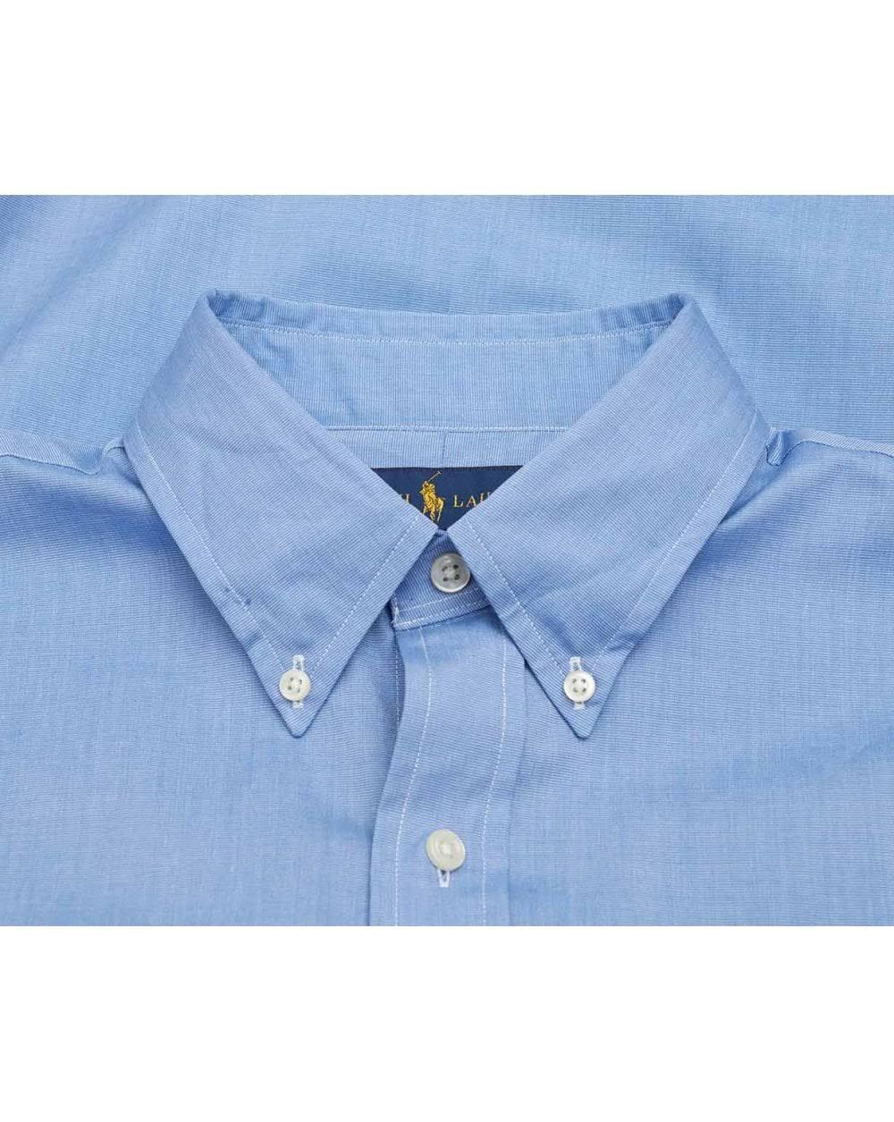 Azul Lauren Camisa Sarga Polo Algodón Xl De Ralph wqBxYY5ST
