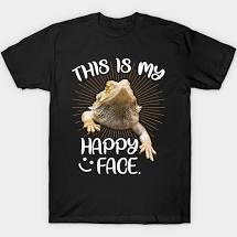 This Is My Happy Face Bearded Dragon Funny Reptile Shirt Classic T-Shirt