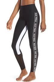 Alo Yoga High Waist Logo Colorblock Trainer Leggings Black/White